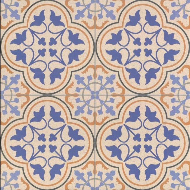 Britannia Victorian Tile Patterns - Decorative Tiles - Blue