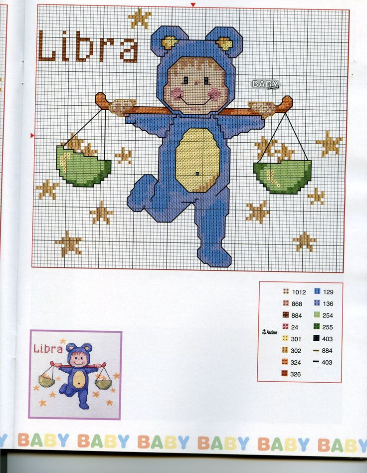 Schema punto croce Baby Oroscopo 8