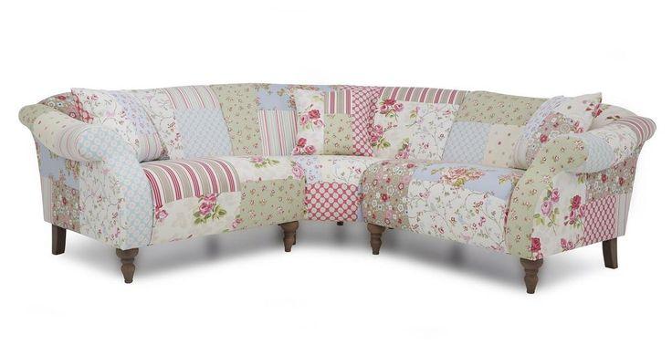 Doll Fabric Patchwork Sofa Set Inc 3 Piece Corner, Chair & Storage Bench (22800)