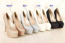 New 2014 Women's Pumps shoes Sexy fashion woman 15 CM Thin High Heels US 4--12 Free shipping(China (Mainland))