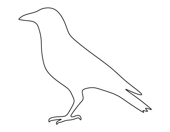 Crow pattern Use the printable outline for crafts, creating