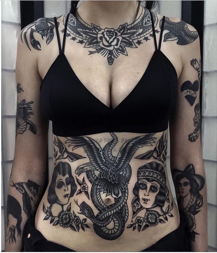 "tttism: "" Superb torso by @bighenry ♠️ www.facebook.com/TTTism www.TTTism.tumblr.com ♠️ #TTTism #ContemporaryTattooing #tattoo #bodyart #illustration #skin #adornment #pain #ritual #tradition #art #craft """