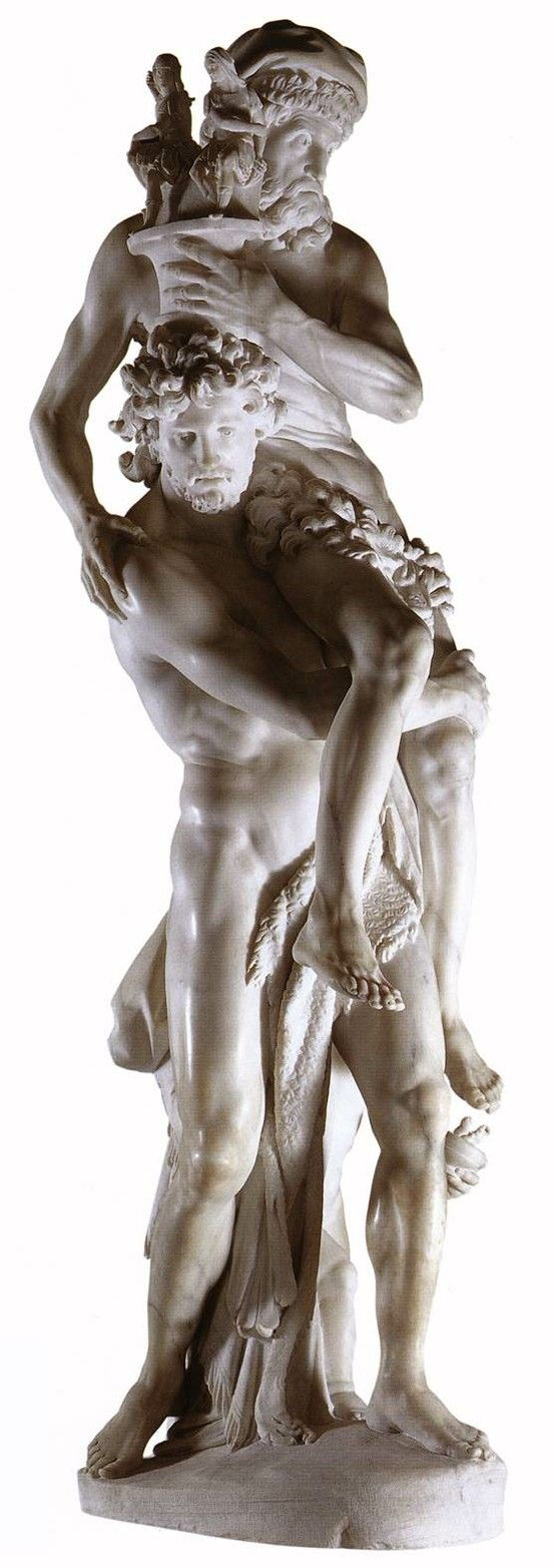 Gianlorenzo Bernini -  Aeneas, Anchises, and Ascanius 1618/ 1619. Marble, height: 220 cm. Galleria Borghese, Rome