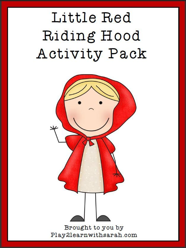 Little Red Riding Hood Activity pack - free printable fairy tale pack for preschoolers