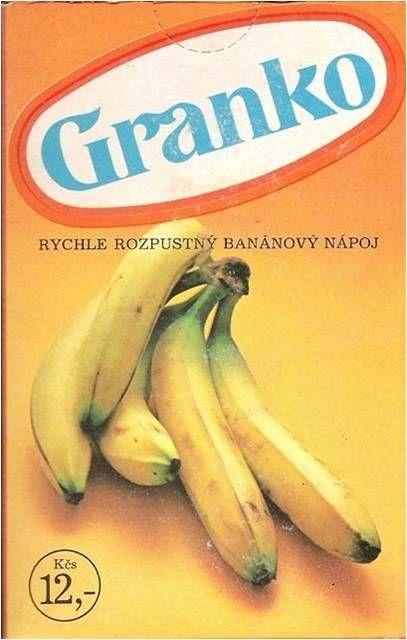 Rozpustný banánový nápoj Granko