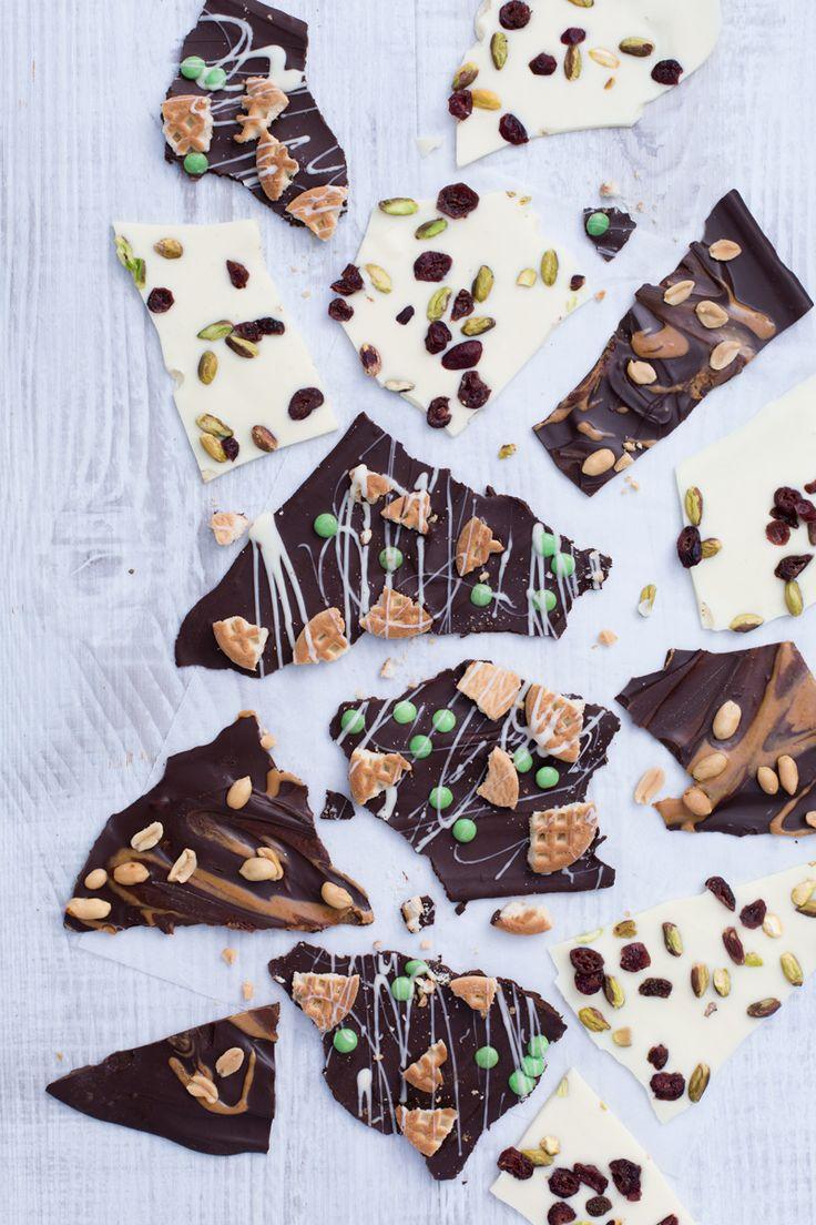 Chocolate Bark Candy Tante colorate barrette di cioccolato decorate come più ti piace. Pronto a prepararle?