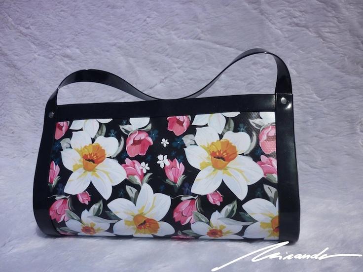 A #flowered #black #bag