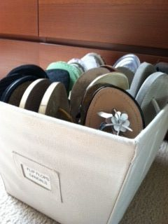 Shoe Storage Solutions - I use open bins to store my sandals and flip flops. I can find what I need in a snap! #organizing #shoes #bins