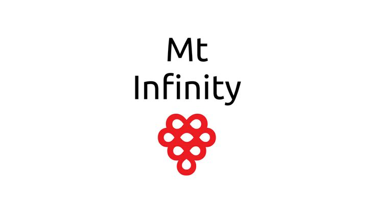 Mount Infinity Wine Label based on infinity symbols as a bunch of grapes. Check out www.mtinfinity.com for more.