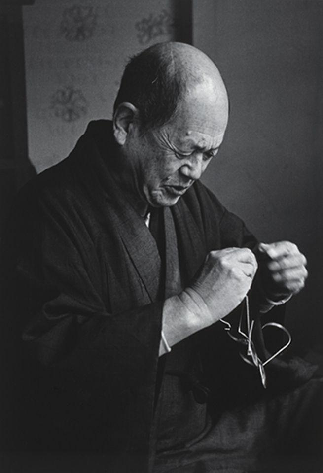 Ken Domon :: Saneatsu Musyanokoji (Japanese author ), Tokyo.武者小路実篤 東京都武蔵野市井の頭公園にて ca1954.