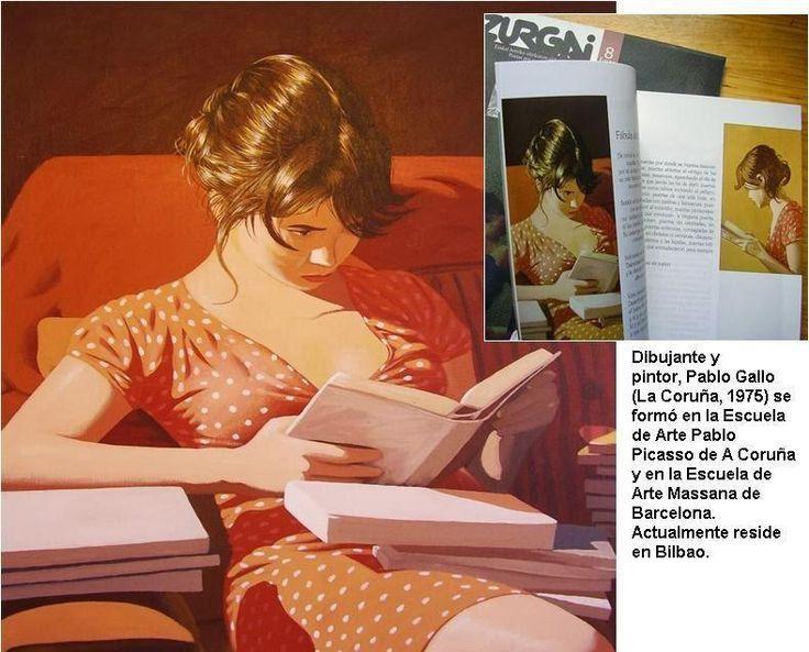 """Revista Zurgai [""""Lectora buscando un pasaje"""", de Pablo Gallo]"""