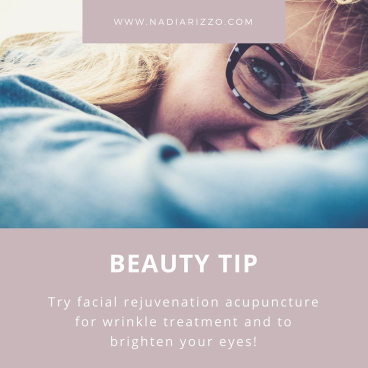 Beauty Tip: Try facial rejuvenation acupuncture for wrinkle treatment and to brighten your eyes!  #beautytip #tips #health