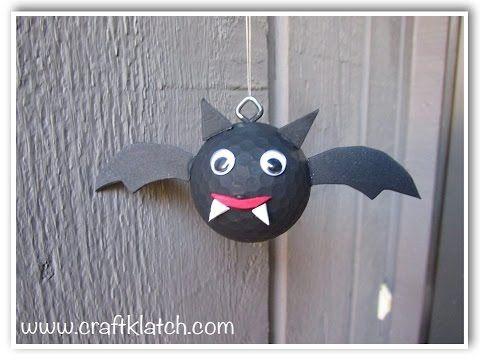 golf ball bat diy recycling halloween craft youtube - Youtube Halloween Crafts
