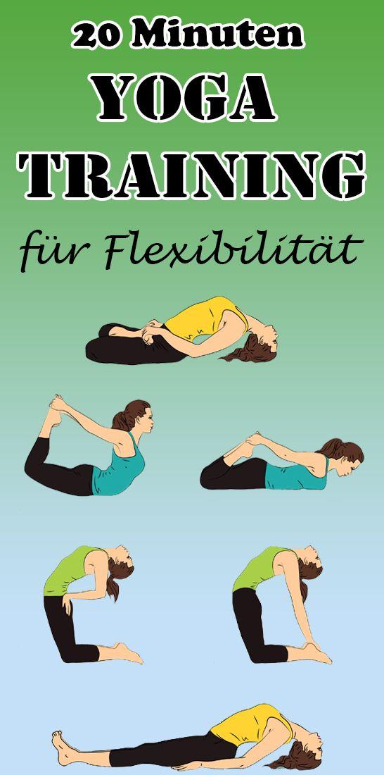 20 Minuten Anfänger Yoga Training für Flexibilität