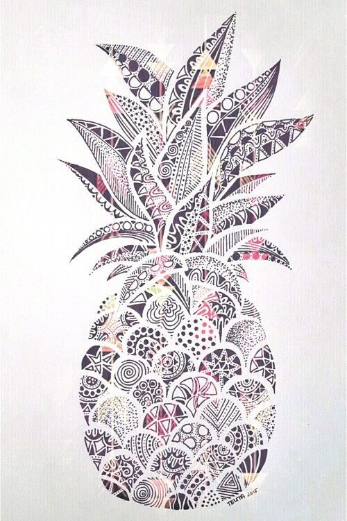 ananas wall paper