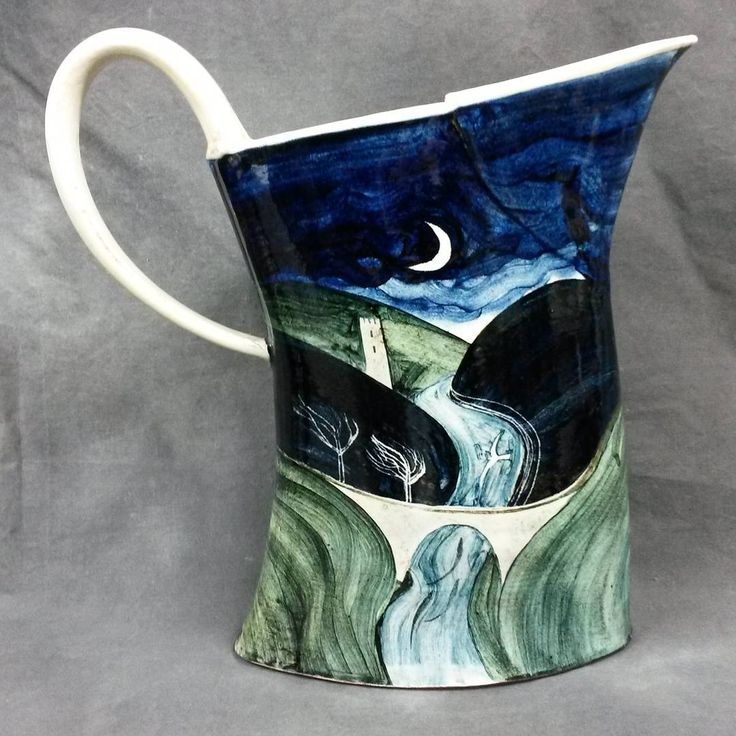 'Nocturne with Castle' jug by James Campbell