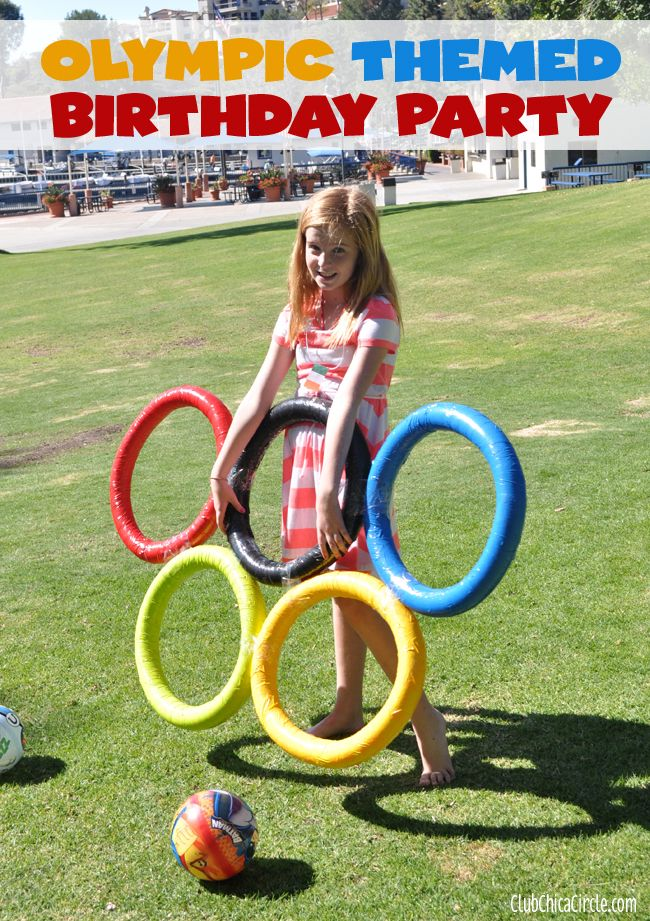 Olympic Themed Birthday Party Ideas and Crafts | Tween Craft Ideas for Mom and Daughter