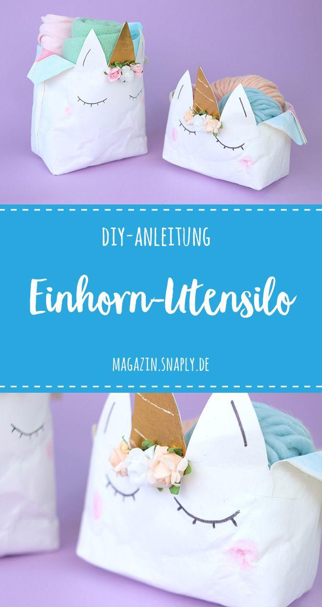 FREEBIE! DIY-Anleitung: Einhorn-Utensilo aus SnapPap