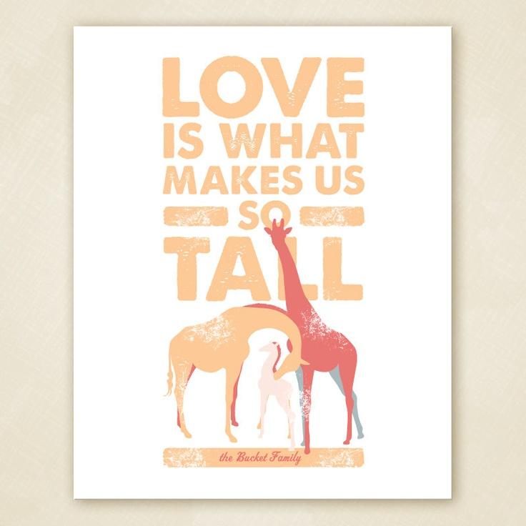 Giraffe Family Wall Art PRINTABLE. $20.00, via Etsy.