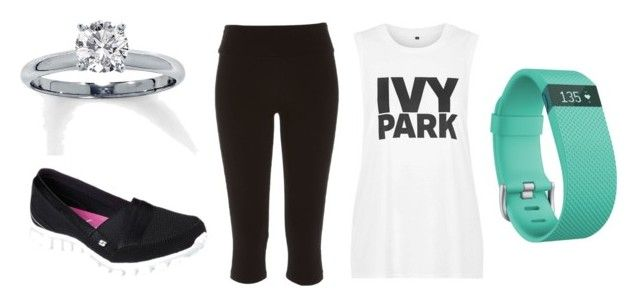 """""""Exercise[2]"""" by agentpalmer on Polyvore featuring River Island, Topshop, Fitbit and Skechers"""