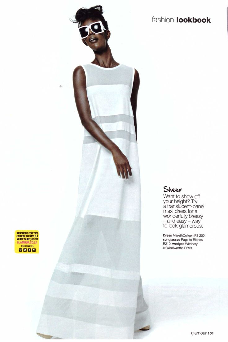 Our Django Maxi & Daisy Top Feature in the January 2015 Issue of Glamour Magazine!