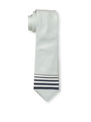 61% OFF Valentino Men's Tip Stripe Tie, White/Blue
