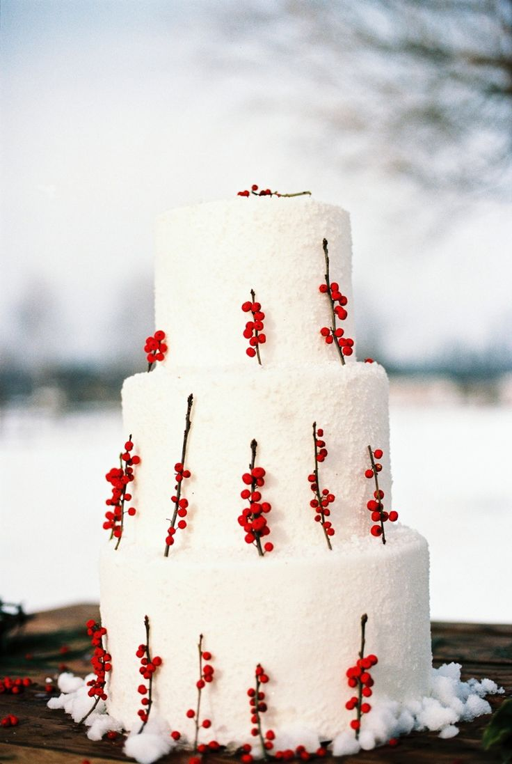 Christmas Wedding Cake Photography by Bell Studios