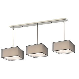 Shop for Z-Lite Brushed Nickel with Black/Super White Shade - Steel 9-light Island/Billiard Light. Get free shipping at Overstock.com - Your Online Home Decor Outlet Store! Get 5% in rewards with Club O!
