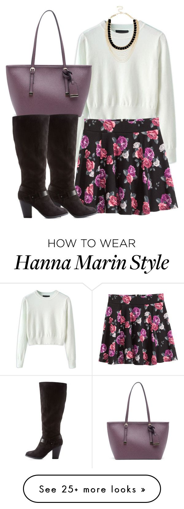 """Hanna Marin inspired outfit with requested skirt"" by liarsstyle on Polyvore featuring H&M, Sole Society, Charlotte Russe, River Island and WF"