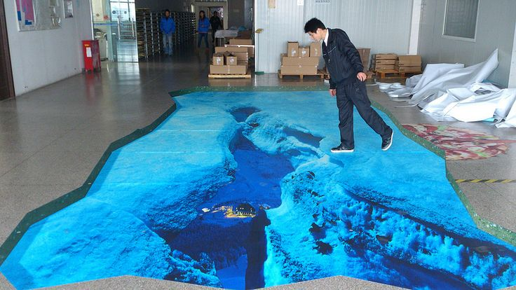 3d floor sticker it39s an illusion pinterest the for How to create 3d floor graphics