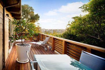 Horizontal Deck Railing | Horizontal wood deck railing