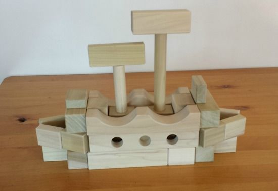 kids will love making this boat from wooden building