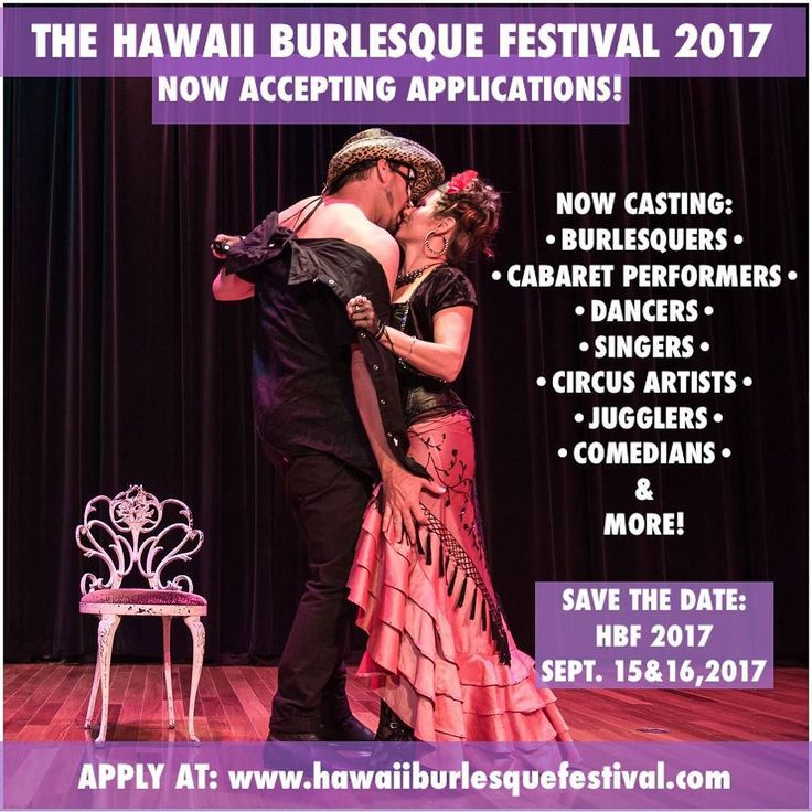 Join us for this year's Hawaii Burlesque Festival! Show dates are September 15 and 16 in Honolulu Hawaii! Applications available at http://ift.tt/1V2kjpA! . . .  #hawaiiburlesquefestival #callforperformers #burlesqueperformer #burlesquefestival #burlesque #burlesqueshow #performinparadise #showgirl #boylesque #cabaret #hawaii #oahu #honolulu
