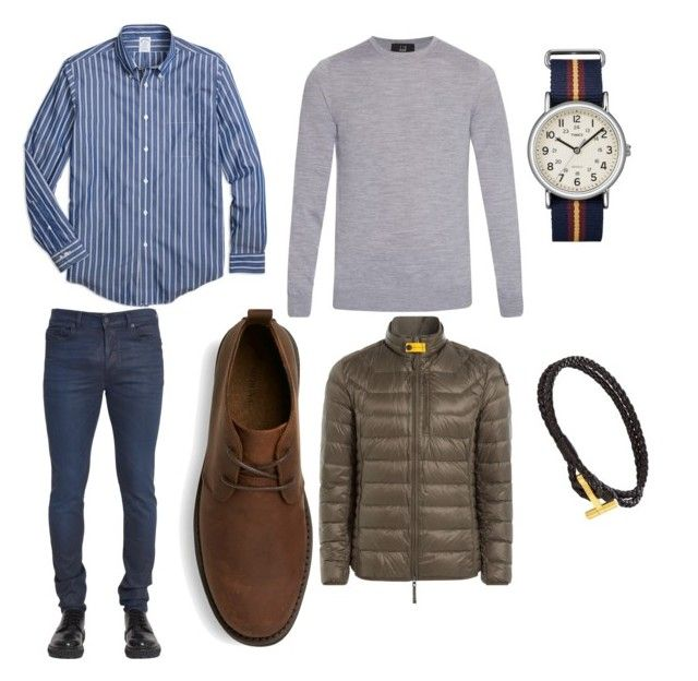 """""""Untitled #7"""" by mihai-cosmin on Polyvore featuring Diesel Black Gold, Brooks Brothers, Dunhill, Parajumpers, Timex, Tom Ford, mens, men, men's wear and mens wear"""