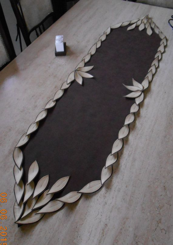 leaf table runner by stelkim on Etsy