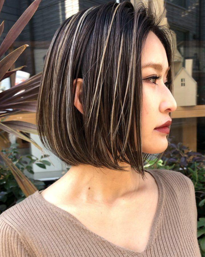ハイライト カラー ロングヘア パーマ ヘアカラー パーさんはinstagram
