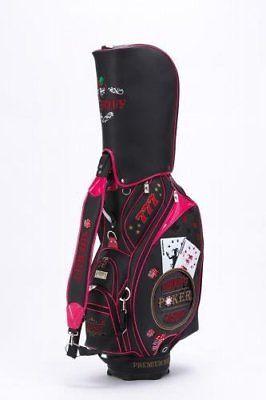 Sheriff Sheriff Casino Casino Series Sca-002 Cart Caddy Bag Black à Pink