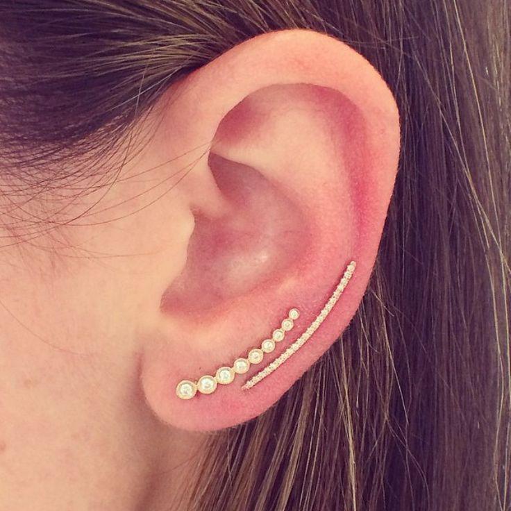 EF Collection Single Diamond Ear Cuff Igwxjjd