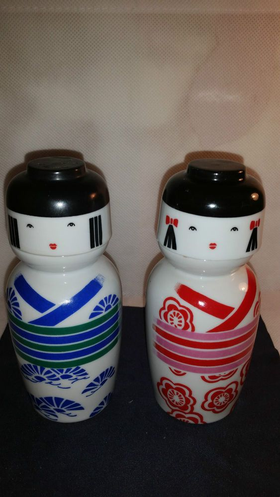Vintage Japanese Hand Painted Sake Bottles Decanters Figurines & Cups