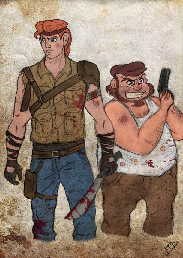 Quand les personnages et les princesses Disney rencontrent l'univers apocalyptique et peuplé de zombies de The Walking Dead... Une série d'illustrations mashu