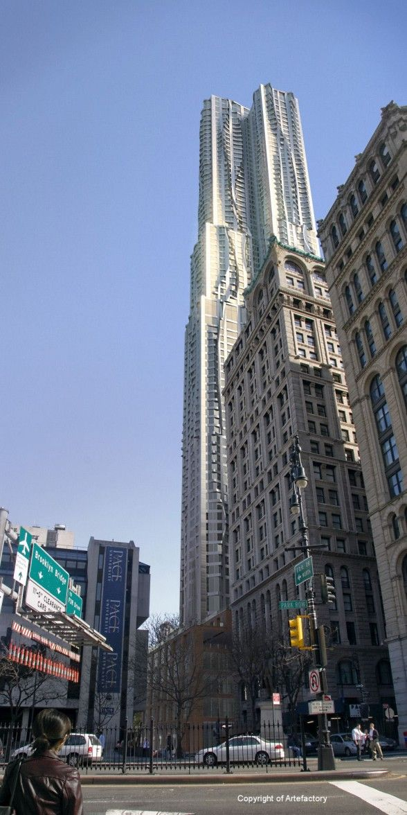 Beekman Tower, Located in New York, United States. By Gehry Partners LLP
