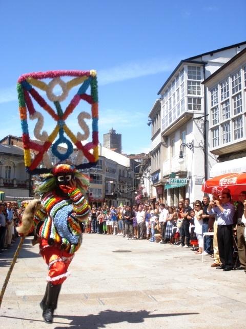 Entroido (Carnaval). Boteiro en Viana do Bolo. Ourense. Galicia. España.