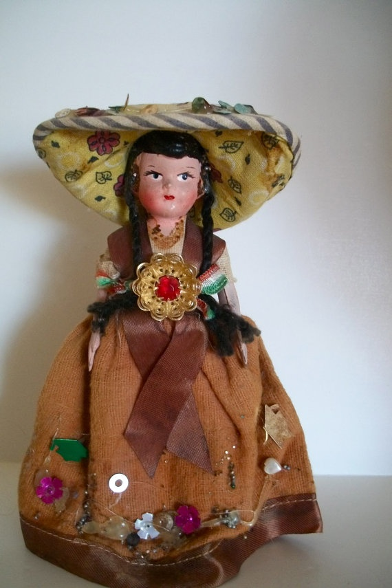 Words... vintage mexican doll pity