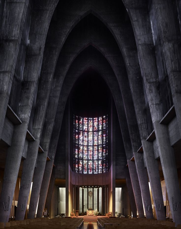 Photography: Mid-Century Modern Churches by Fabrice Fouillet,André Remondet's St. Thérèse in Metz, France, completed in 1959. Image © Fabrice Fouillet