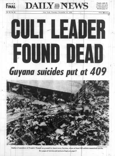 jonestown massacre. http://www.whoknewpodcast.com/