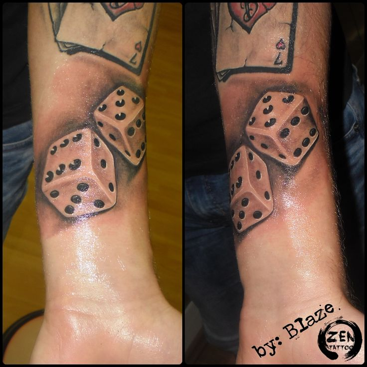 Dice; tattoo by Blaze  www.facebook.com/zentattoozagreb
