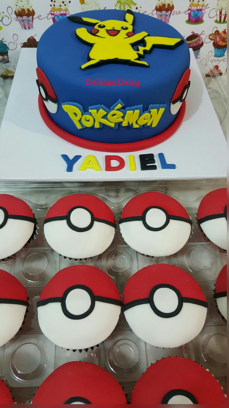 pokemon cake and cupcakes cakes pinterest pok mon cake and pokemon party. Black Bedroom Furniture Sets. Home Design Ideas