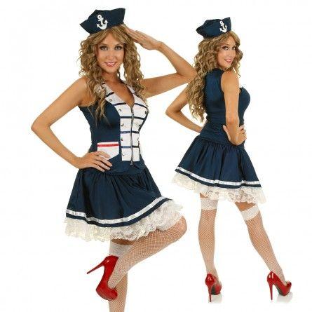 Womens Pin Up Sailor Costume