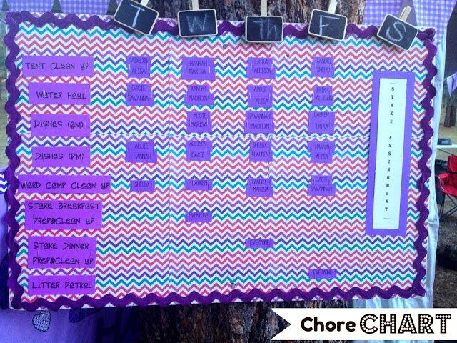 Girls Camp Decorations. From Marci Coombs Blog