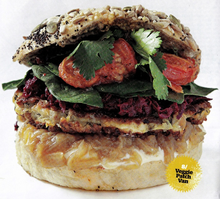 Our ancient grain burger, as featured in The Sydney Magazine's top 10 burgers (July 2012)